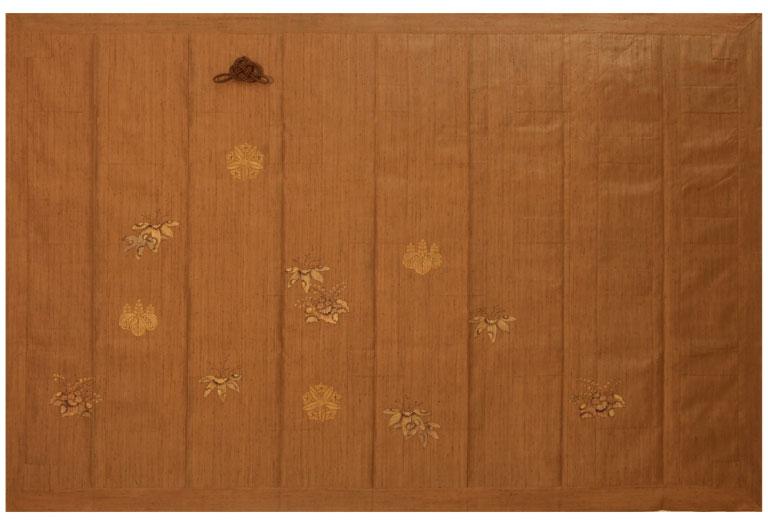 純草木染手織つむぎ(井筒屋オリジナル正絹生地) 袈裟