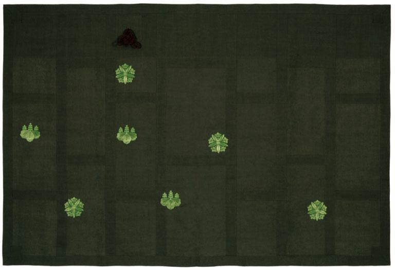小千谷麻上布 袈裟 両山紋刺繍